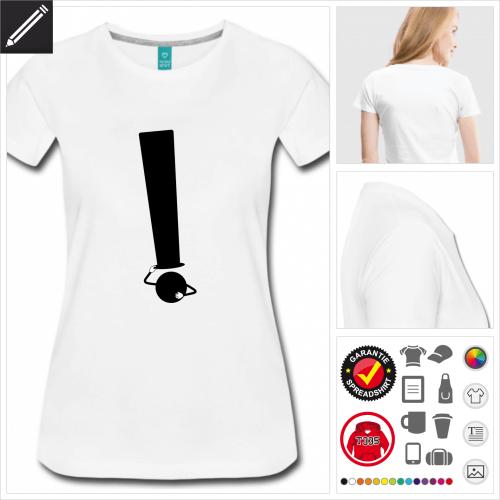 Frauen Hut T-Shirt selbst gestalten. Druck ab 1 Stuck