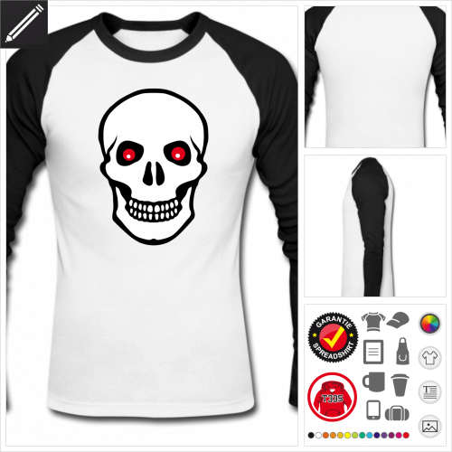 Pirat T-Shirt gestalten, Druck ab 1 Stuck