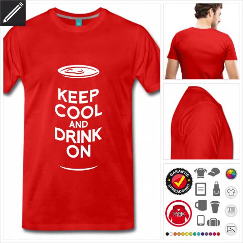grünes Alkohol T-Shirt personalisieren