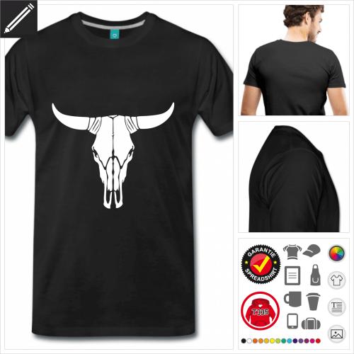 schwarzes Amerika T-Shirt online Druckerei, höhe Qualität