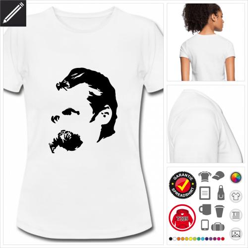 rotes Literatur T-Shirt online Druckerei, höhe Qualität