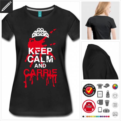 schwarzes Halloween T-Shirt personalisieren