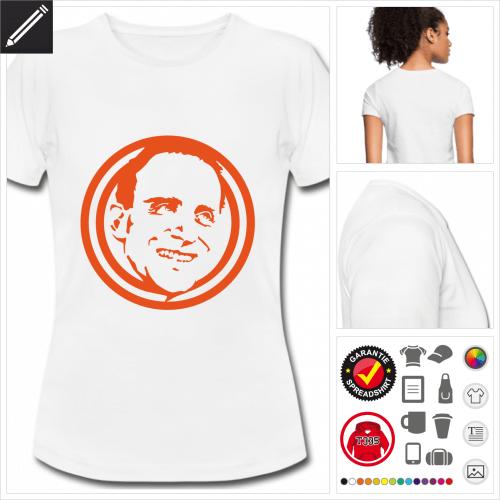 weisses Schriftsteller T-Shirt selbst gestalten. Online Druckerei