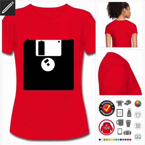 rotes Retrogaming T-Shirt zu gestalten