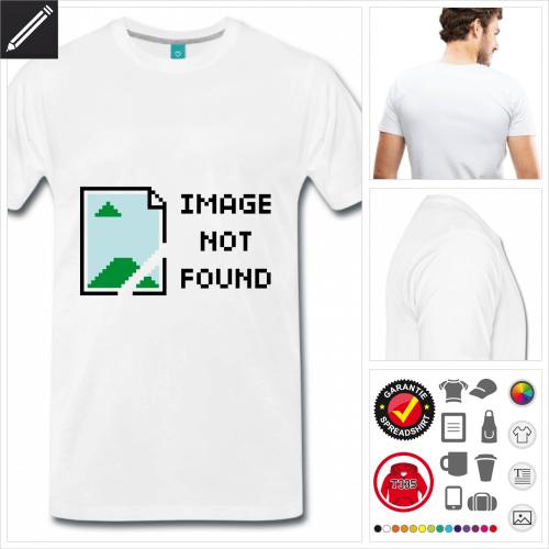Männer Image not found T-Shirt online zu gestalten
