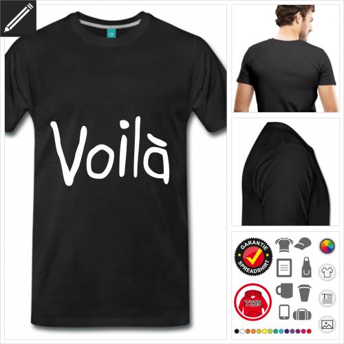 weisses Frankreich T-Shirt personalisieren