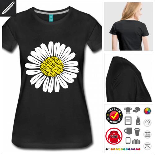 Gänseblume T-Shirt selbst gestalten. Online Druckerei