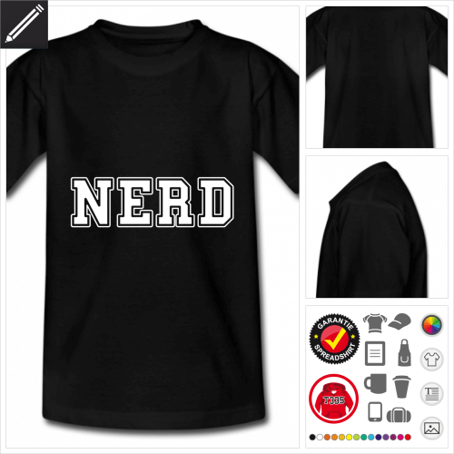 Geek Kurzarmshirt online Druckerei, höhe Qualität