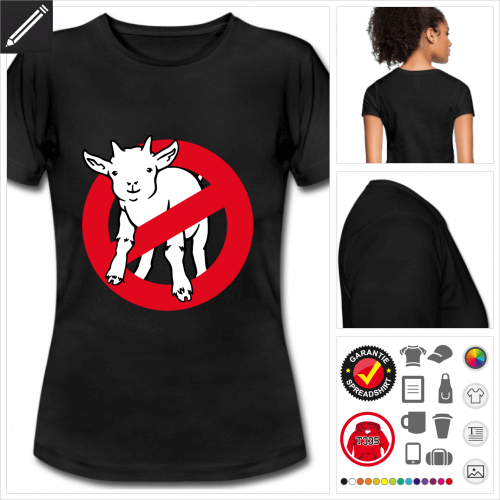 Afraid of no goat T-Shirt online gestalten