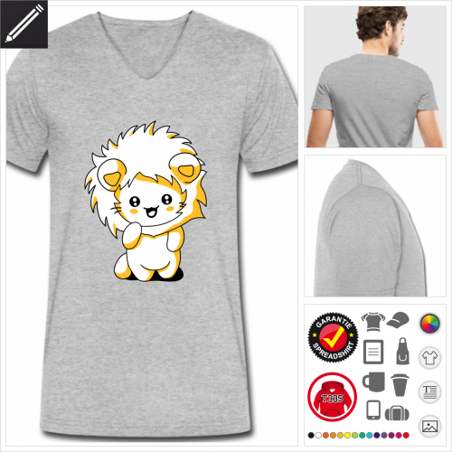Kätzchen kawaii T-Shirt selbst gestalten. Online Druckerei