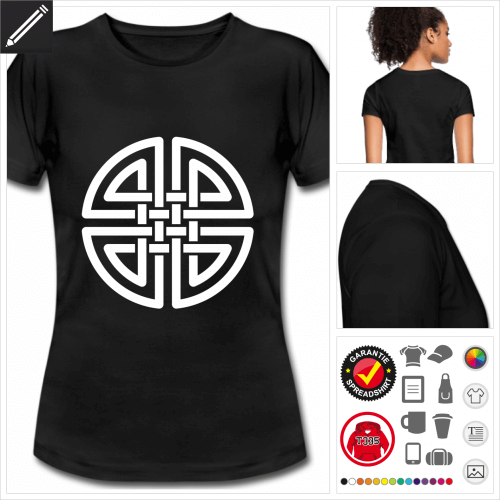 Keltisch T-Shirt selbst gestalten. Online Druckerei