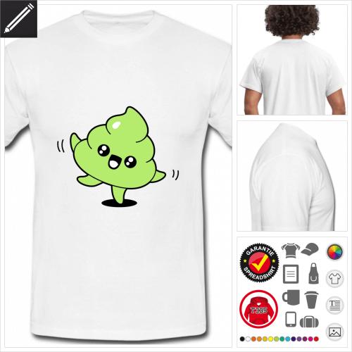Männer Kot kawaii T-Shirt online gestalten