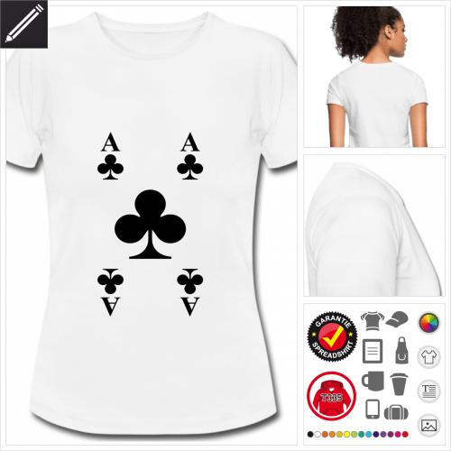 basic Kreuz-Ass T-Shirt online zu gestalten
