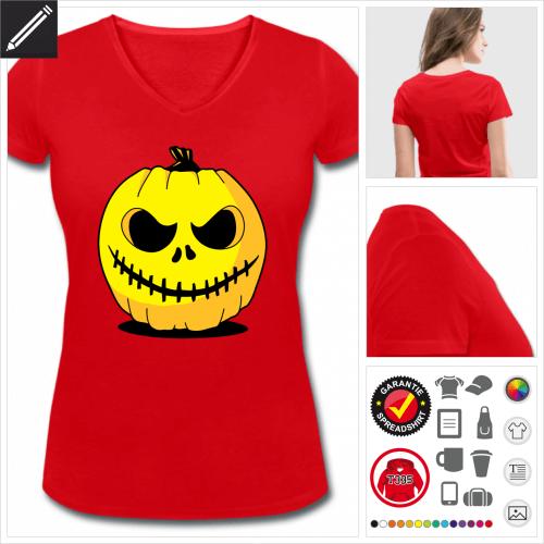 rotes Halloween T-Shirt selbst gestalten