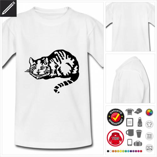 Kinder Cheshire Katze T-Shirt selbst gestalten. Online Druckerei