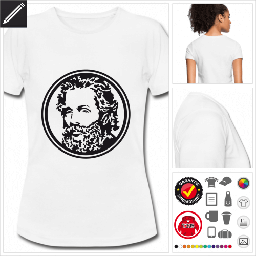 weisses basic Moby Dick T-Shirt selbst gestalten. Online Druckerei