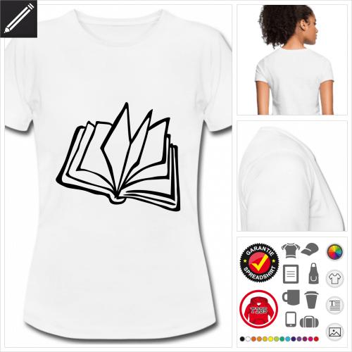 weisses basic Literatur T-Shirt selbst gestalten