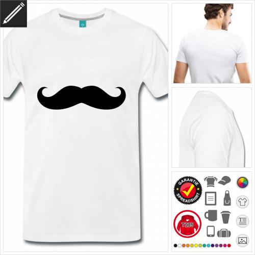 Moustache T-Shirt online Druckerei, höhe Qualität