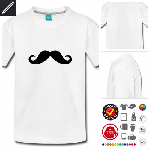 Teenager Schnurrbärte T-Shirt zu gestalten