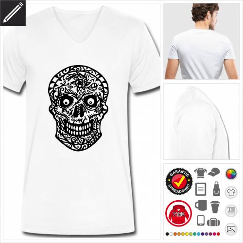 basic Zuckerschädel T-Shirt selbst gestalten. Online Druckerei