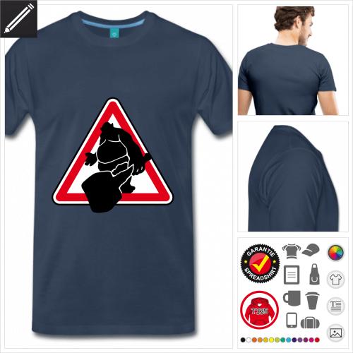 Troll Verkehrsschild T-Shirt basic selbst gestalten