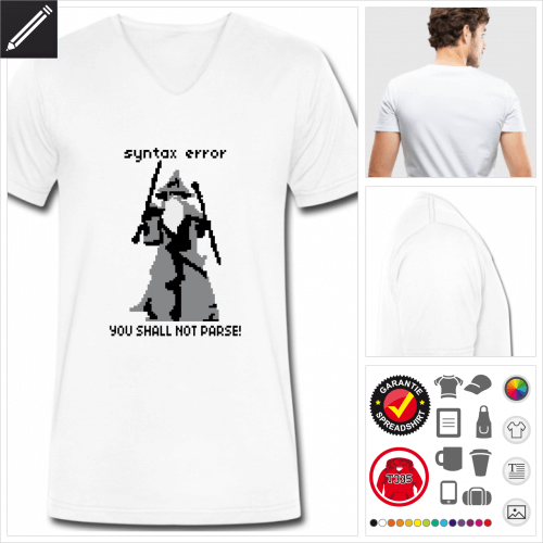 Männer You shall not parse T-Shirt selbst gestalten. Online Druckerei