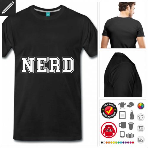Geek T-Shirt selbst gestalten. Online Druckerei