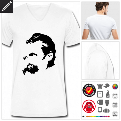 Männer Philosophie T-Shirt gestalten, Druck ab 1 Stuck