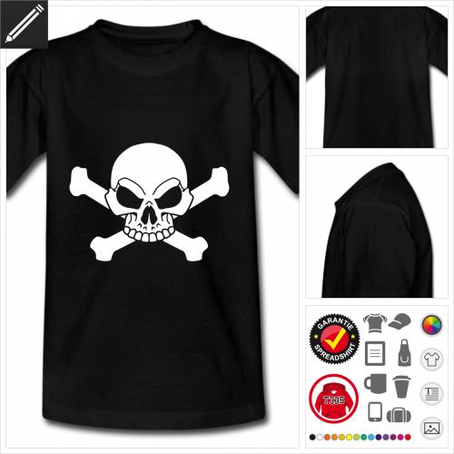 basic Piraten Schädel T-Shirt selbst gestalten
