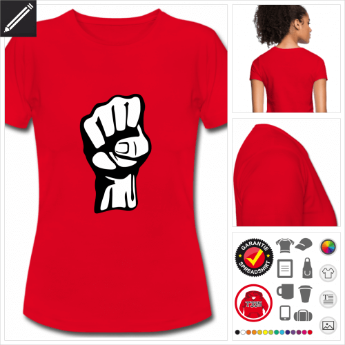 rotes Faust T-Shirt selbst gestalten