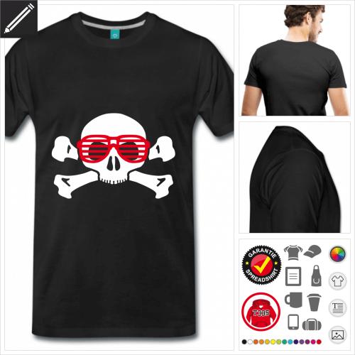 royalblaues Nerd T-Shirt personalisieren