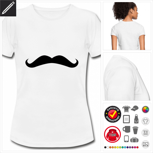 Frauen Hipster T-Shirt zu gestalten