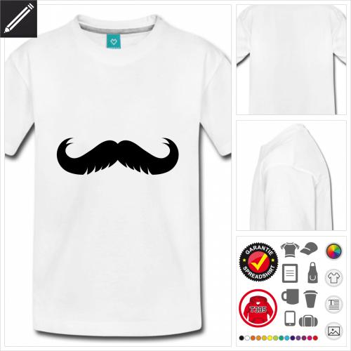 basic Lustiger Schnurrbart T-Shirt zu gestalten