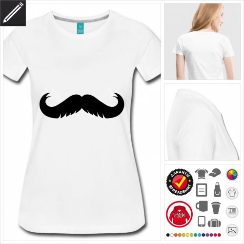 basic Oberlippenbart T-Shirt online Druckerei, höhe Qualität