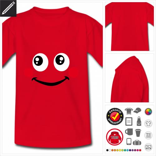 basic Lustiges Smiley T-Shirt zu gestalten