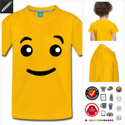 Kinder Augen T-Shirt selbst gestalten. Druck ab 1 Stuck