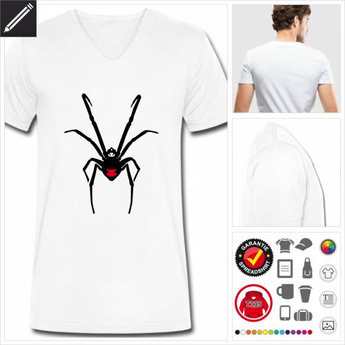 Spinne T-Shirt online Druckerei, höhe Qualität