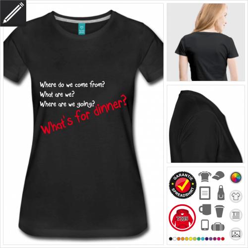 Frauen Zitat T-Shirt zu gestalten