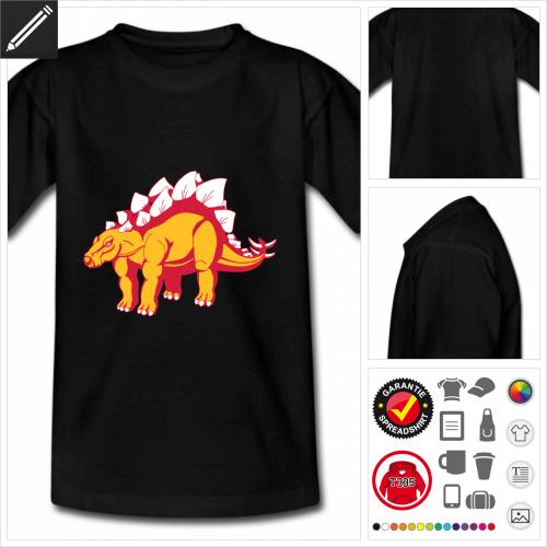 Kinder Stegosaurus T-Shirt online zu gestalten