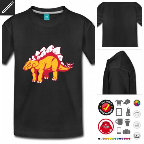 basic Stegosaurus T-Shirt online zu gestalten
