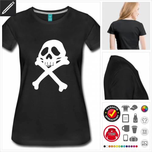 basic Pirat T-Shirt selbst gestalten. Online Druckerei