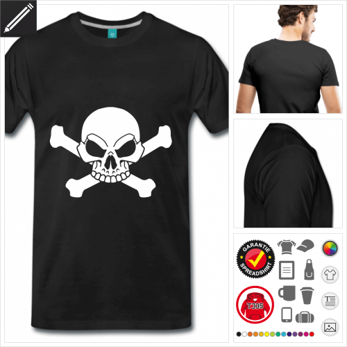 Männer Piratenflage T-Shirt personalisieren