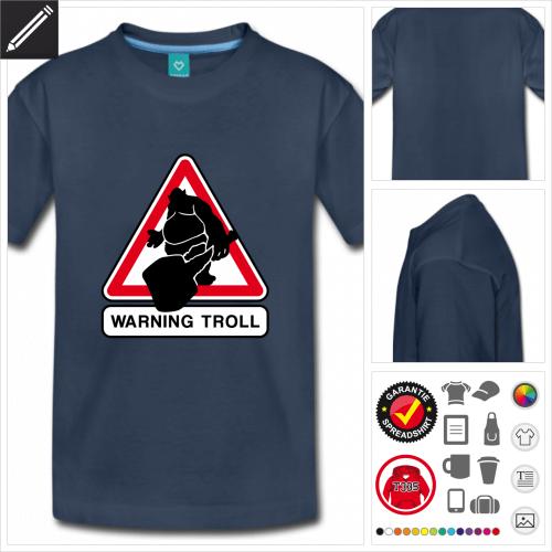 Teenager Nerd T-Shirt selbst gestalten. Druck ab 1 Stuck