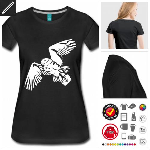Frauen Eule T-Shirt online zu gestalten