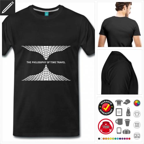 basic Wurmloch T-Shirt selbst gestalten. Druck ab 1 Stuck