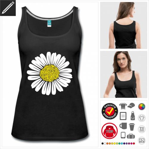 Frauen Blumen T-Shirt zu gestalten