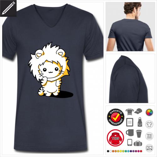 Lustiges Kätzchen T-Shirt online Druckerei, höhe Qualität