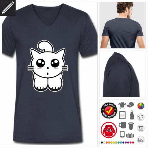 Katzen T-Shirt online zu gestalten