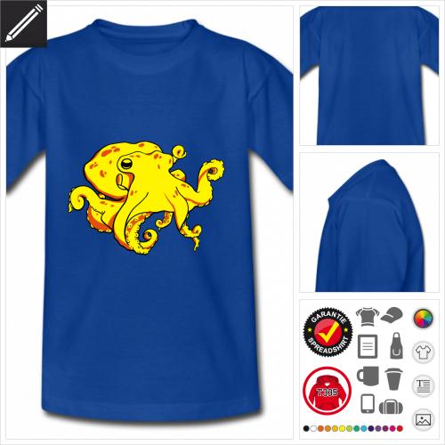 basic Tintenfisch T-Shirt selbst gestalten