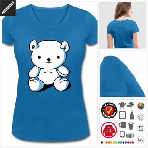 Teddybär Kawaii T-Shirt zu gestalten